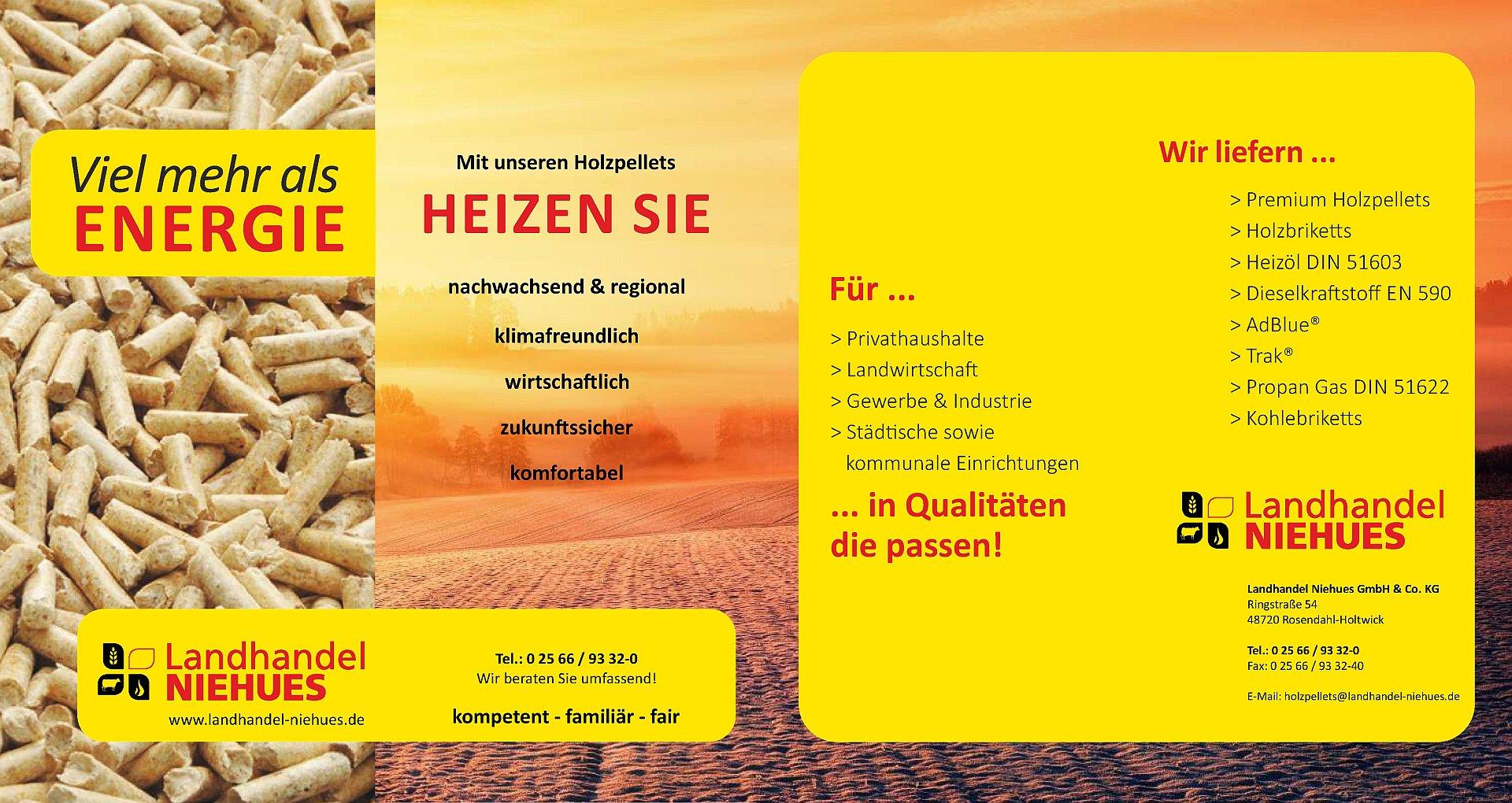 Holzpellets Flyer Seite 1