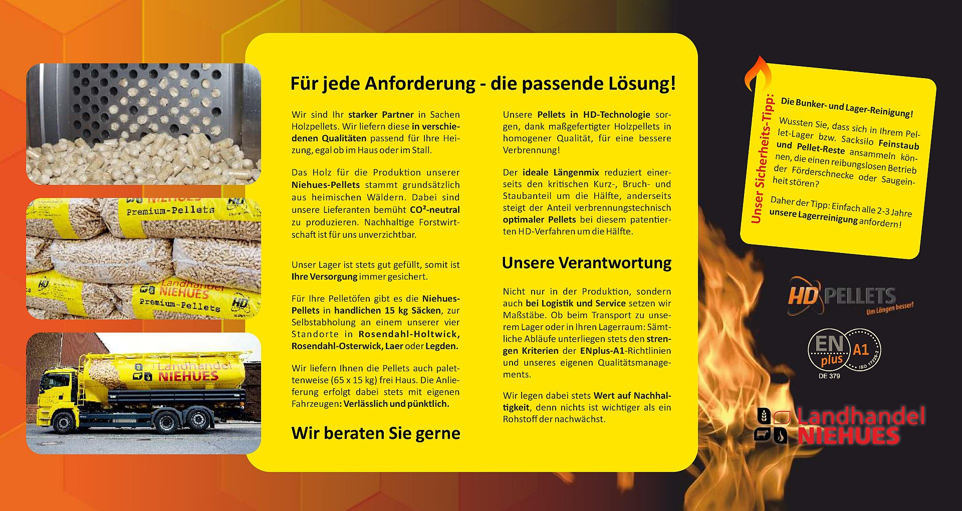 Holzpellets Flyer Seite 2